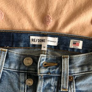Re/Done ankle jeans size 24